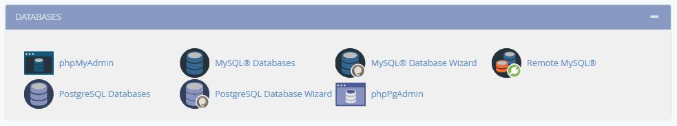 Gestion bases données dans cPanel