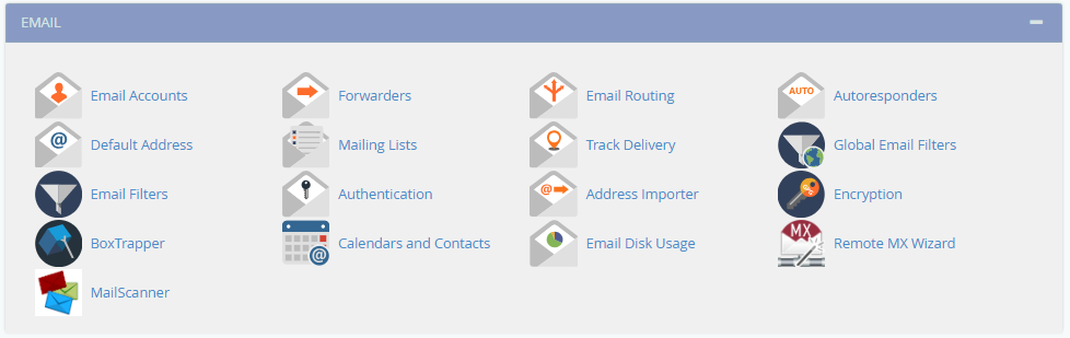Gestion emails cPanel