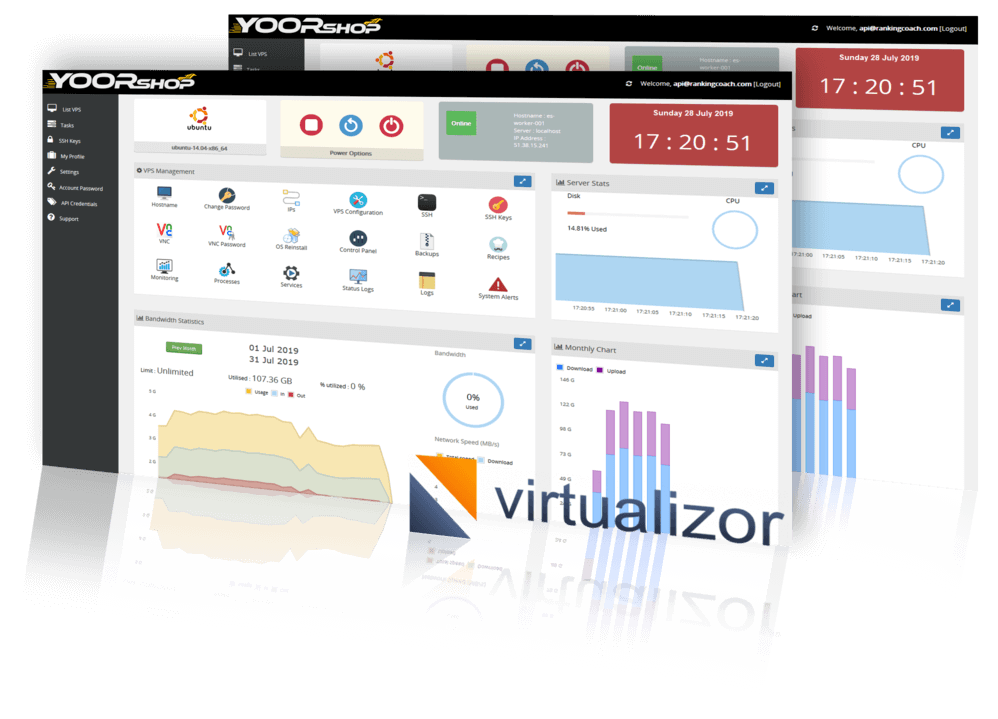 Demo Virtualizor YOORshop