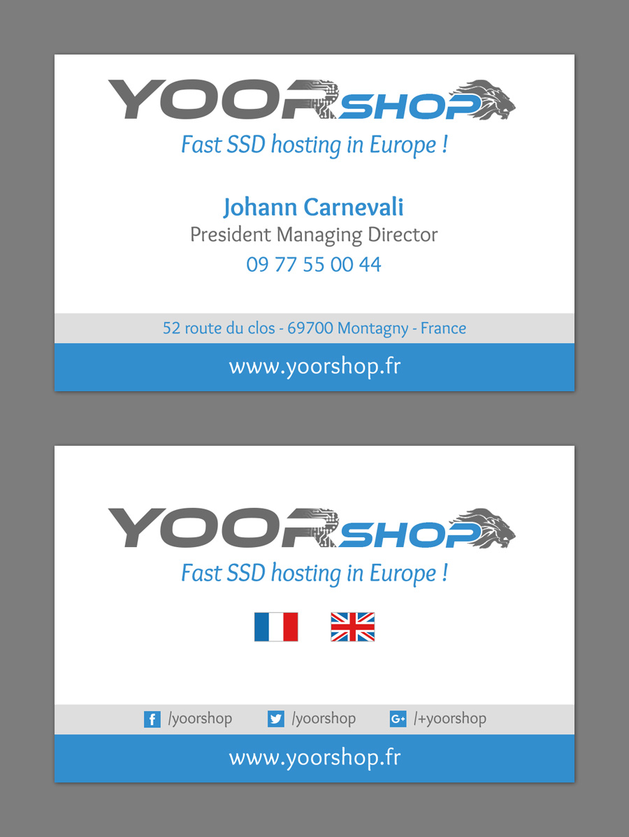 Business card YOORshop
