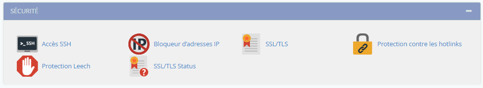 Security cPanel