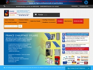 France Chauffage Solaire web hosting YOORshop